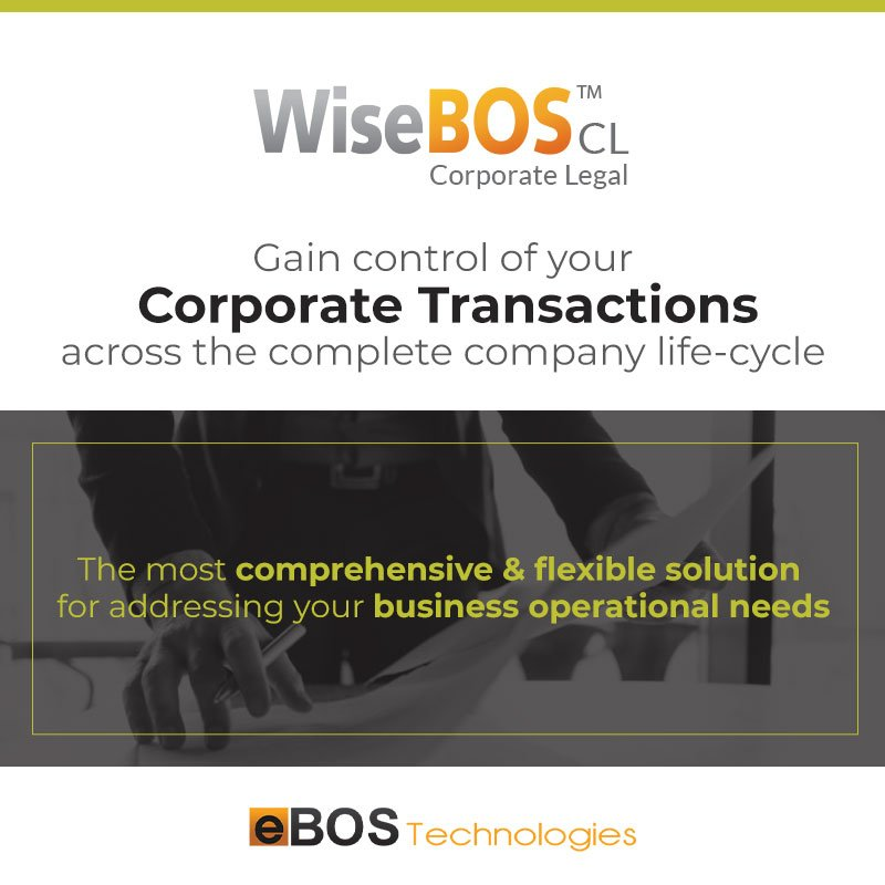 Gain the control of your corporate transactions and automate your administration procedures